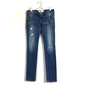 Hollister	Jeans Low-Rise Skinny Distressed Rips 1S
